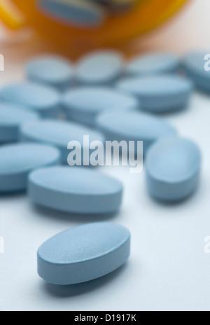 Blue pills - Stock Photo