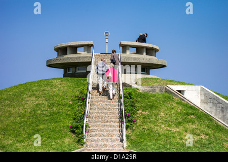 France, Normandy, Arromanches, an old bunker in the places of the second World War landing - Stock Photo