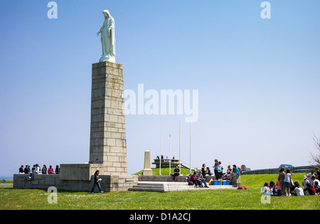 France, Normandy, Arromanches, a memorial in the places of the second World War landing - Stock Photo