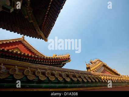 Forbidden City Roofs, Beijing, China - Stockfoto