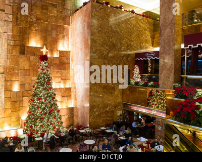 Public Space Atrium With Holiday Decorations Trump Tower