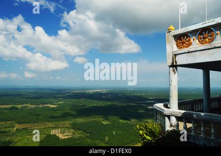 View from top of Tiger Cave Temple (Wat Tham Suea), Krabi Province, Thailand, Southeast Asia, Asia - Stock Photo