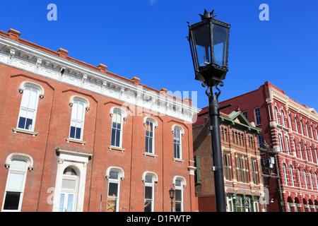 Historic Strand District, Galveston, Texas, United States of America, North America - Stock Photo