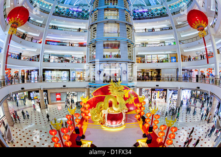 Interior of a modern shopping complex at the foot of the Petronas Towers, Kuala Lumpur, Malaysia, Southeast Asia, - Stock Photo