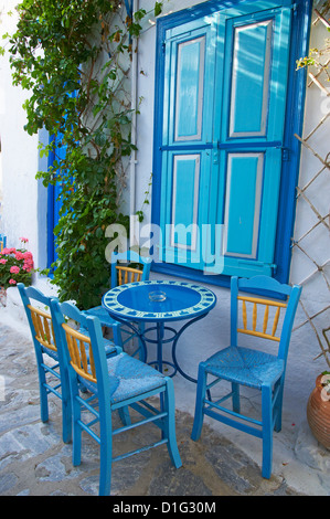 Chora, Amorgos, Cyclades, Aegean, Greek Islands, Greece, Europe - Stock Photo