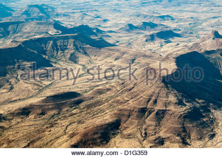 Aerial view, Namibia, Africa - Stock Photo