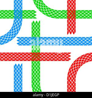 Seamless wallpaper tire tracks pattern illustration - Stock Photo
