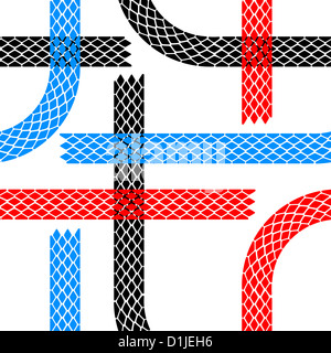 Seamless wallpaper tire tracks pattern illustration  background - Stock Photo