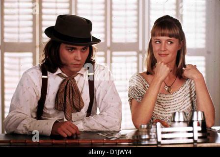 Benny & Joon  Benny & Joon  Johnny Depp, Mary Stuart Masterson Sam (Johnny Depp) versteht nicht, warum man nicht - Stock Photo