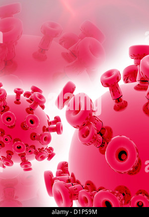 Viruses, conceptual artwork - Stock Photo