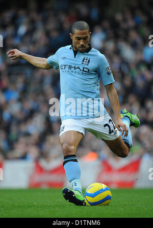 05.01.2013 Manchester, England. Gael Clichy in action during the FA Cup 3rd Round game between Manchester City and - Stock Photo