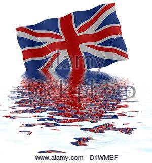 Digital Illustration Union Jack Flag Plus The Word Brexit