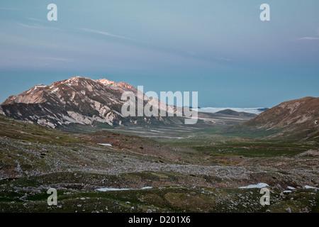 Campo Imperatore, Gran Sasso e Monti della Laga National Park, High Plateau, Abruzzo, Province L'Aquila, Italy - Stock Photo