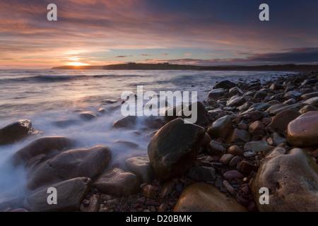 Dingieshowe rocky beach, Orkney isles - Stock Photo
