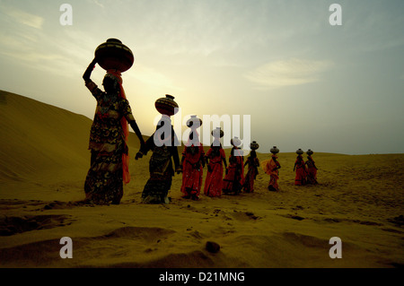group of women going for water - Stock Photo