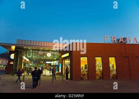Main long distance bus station Florenc central Prague Czech Republic Europe - Stock Photo