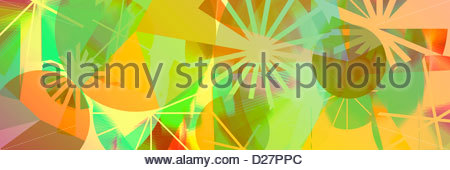 Vibrant abstract of lines and circles - Stock Photo