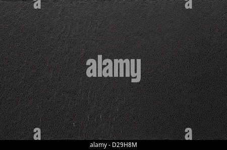 Close up photo of black leather in high resolution - Stock Photo
