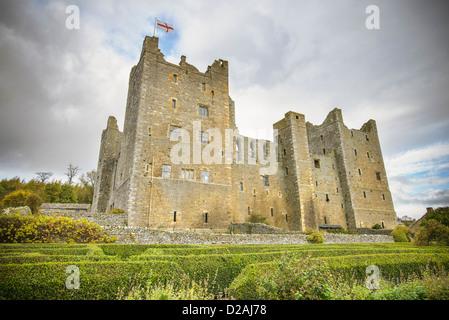 Castle under cloudy sky - Stock Photo