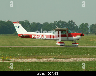 Cessna 152 II, PH-JVB taxiing, at Deventer - Teuge (EHTE). - Stock Photo