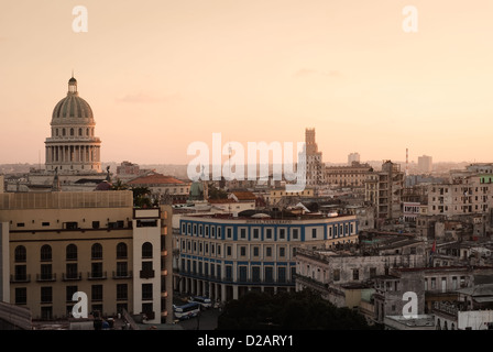 Aerial view of urban buildings - Stock Photo