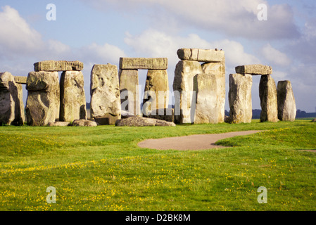 England, Wiltshire, Stonehenge. - Stock Photo