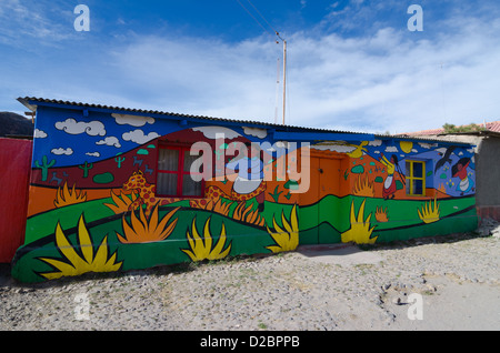 Wall of a House in Putre, Atacama Desert, Chile - Stock Photo