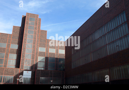 bauhaus architecture zeche zollverein unesco world heritage essen stock photo royalty free. Black Bedroom Furniture Sets. Home Design Ideas