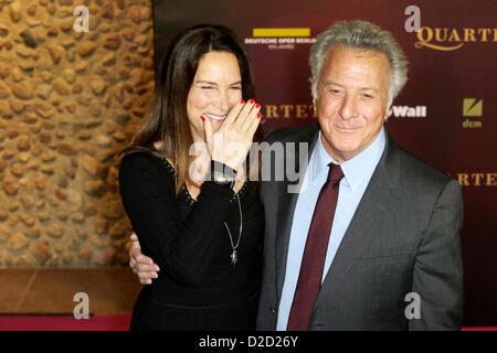 Dustin Hoffman with his wife Lisa Gottsegen attend to Germany's premiere of 'Quartett' at German Opera Berlin (Deutsche - Stock Photo
