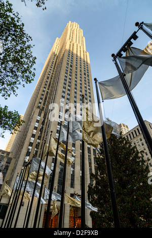 GE Building, Rockefeller Center, Manhattan, New York City, USA - Stock Photo