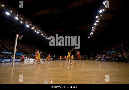 23.01.2013 London, England.  A general view of the action during the International Netball Series 2nd Test Match - Stockfoto