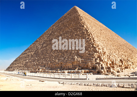 Great Pyramid,Pyramid of Khufu or Cheops, the oldest and largest of the three pyramids in the Giza Necropolis near - Stock Photo