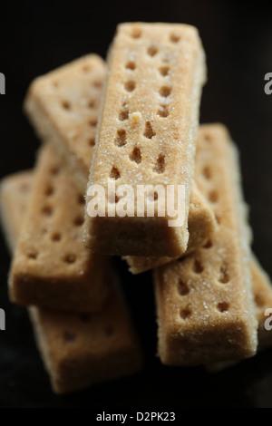 Scottish shortbread fingers - Stock Photo