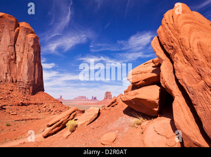 View from North Window, Monument Valley Navajo Tribal Park, Arizona, United States of America, North America - Stock Photo
