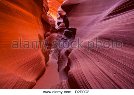 Sandstone Rock formations, Lower Antelope Canyon, Page, Arizona, United States of America, North America - Stock Photo