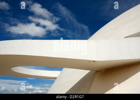 Museo Nacional (National Museum) designed by Oscar Niemeyer, Brasilia, UNESCO World Heritage Site, Brazil, South - Stock Photo