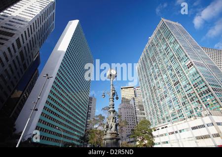 Skyscrapers in Carioca Square (Largo da Carioca), Centro, Rio de Janeiro, Brazil, South America - Stock Photo
