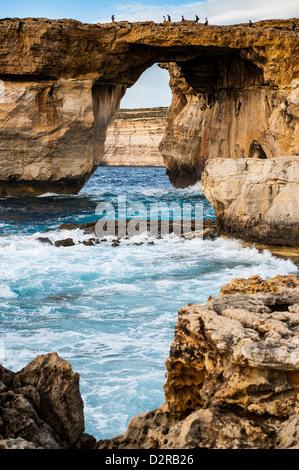 Famous sea arch, the Azure Window, Gozo, Malta, Mediterranean, Europe - Stock Photo