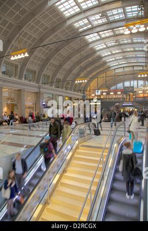 Central Station interior, Norrmalm, Stockholm, Sweden, Europe - Stock Photo