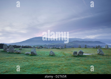Castlerigg stone circle in the Lake District National Park, Cumbria, England, United Kingdom, Europe - Stock Photo