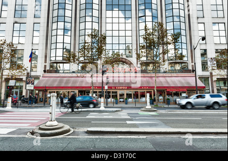 La Coupole - a famous historic brasserie restaurant on the Boulevard du Montparnasse in Paris, France - Stock Photo