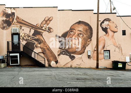 Two american musical and jazz icons billie holiday and for Billie holiday mural