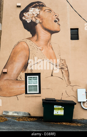 Lady sings the blues stock photo royalty free image for Billie holiday mural