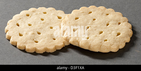 Two shortbread thins biscuits - Stock Photo