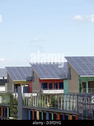 Freiburg, Germany, Solar Community in the Vauban quarter - Stock Photo