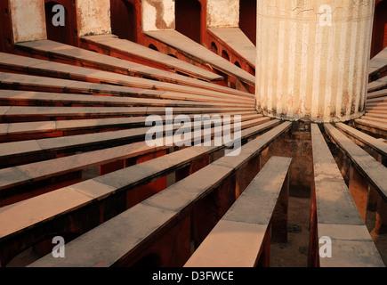 jantar mantar; an ancient astronomical observatory,delhi,india - Stockfoto