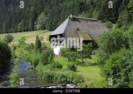 Farmhouse in Hornberg, Black Forest, Germany. - Stock Photo
