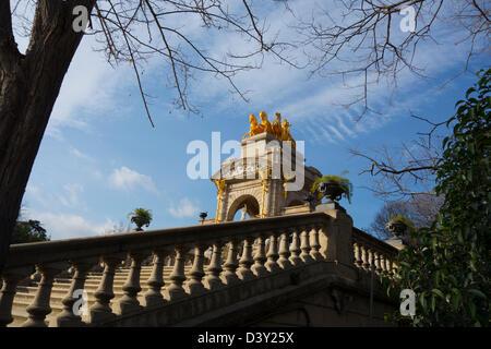 Parc de la Ciutadella (Ciutadella Park) in Barcelona, Spain, Europe - Stock Photo