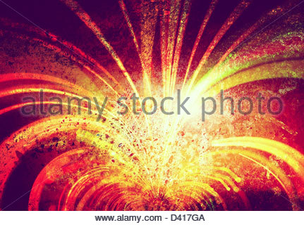 light streaks on textured background - Stock Photo