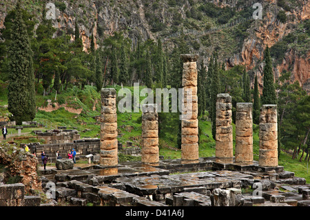 Temple of Apollo at Delphi oracle archaeological site in ...